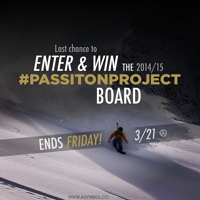 Contest ends tomorrow!! Enter for your chance to win the #4 #passitonproject 2014/15 Trice Gold Member made by @libtechnologies customized by @asymbol Enter at www.asymbol.co by Friday.