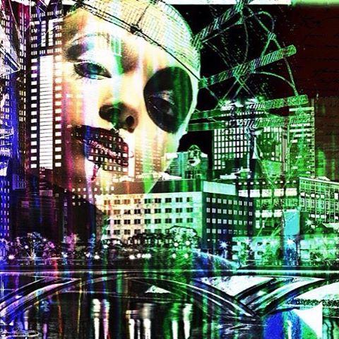 @byra_beast • • Digital/acrylic/ink • • #atx #austintx #texas #tx #spratx #art #mixedmedia #city