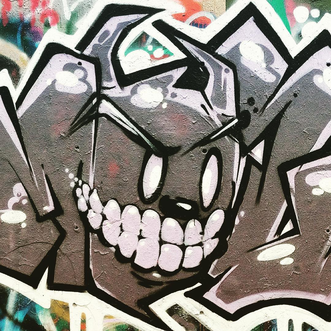 @watchyourmouf • • Demon Mouf • • #ATX #austintx #texas #tx #spratx #mouf #graffiti #grafite #atreetart #art