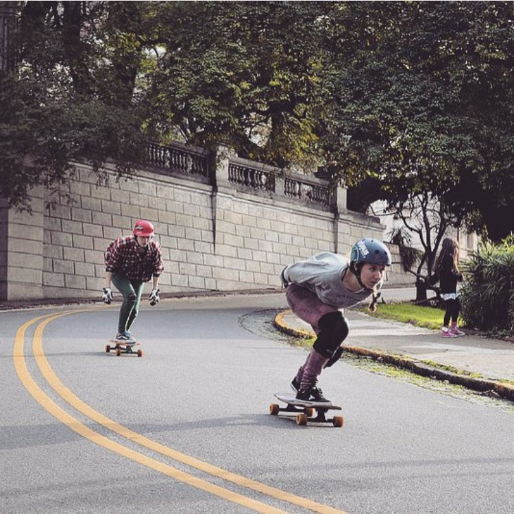 Ellas ❤️ LGC Argentina Ambassadors @yam.isach & @polipalta ripping their local spot.  Photo cred?  #longboardgirlscrew #womensupportingwomen #lgcargentina #skatelikeagirl #yamilleisach #polipalta #libano #argentina #buenosaires