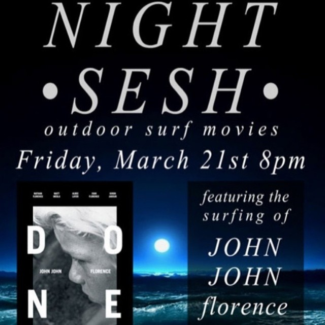 Outdoor Movie Nights with @zjboardinghouse are back starting TOMORROW NIGHT in Santa Monica with @vitacoco and @spyoptic raffles benefiting B4BC!! They will be showing clips from #JohnJohnFlorence and serving up some free popcorn, so bring a blanket...
