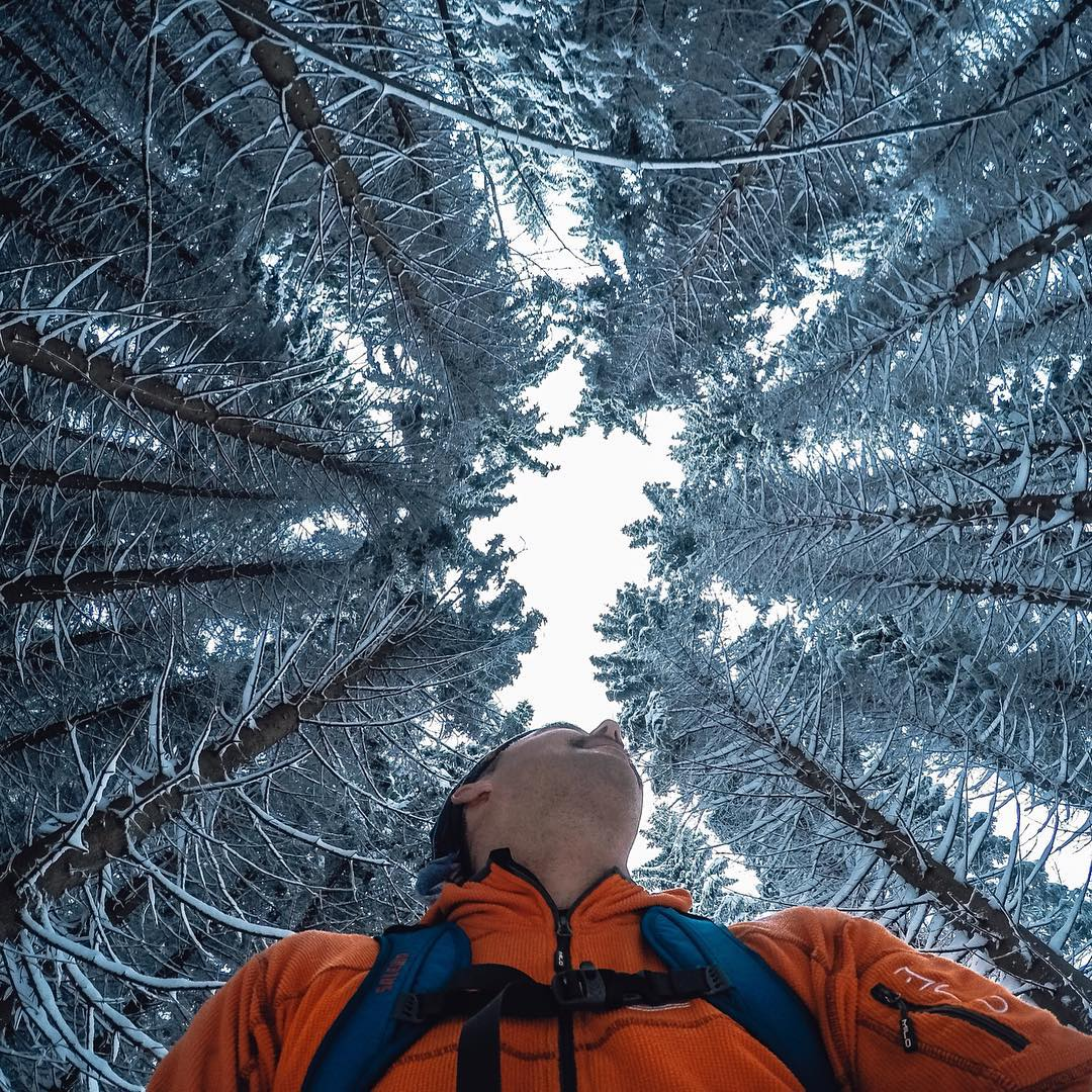 "Photo of the Day! Congrats to #GoProAwards recipient Tomaz Kovac for his awesome submission ""Winter Wilderness."" Such a cool photo! You can get rewarded for your best #GoPro content, submit via link in our bio. #❄️"
