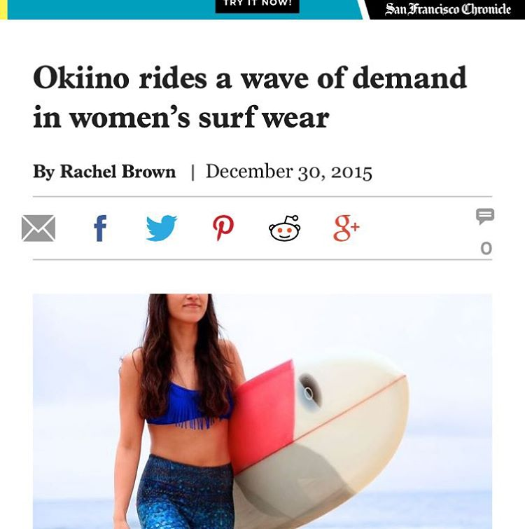 Thanks to our fave local newspaper @sfchronicle & Rachel Brown for the awesome article on OKIINO.  Check out the link in our profile.  #style #sfchronicle #press #news #sea #street #studio #surf #fashion #OKIINO