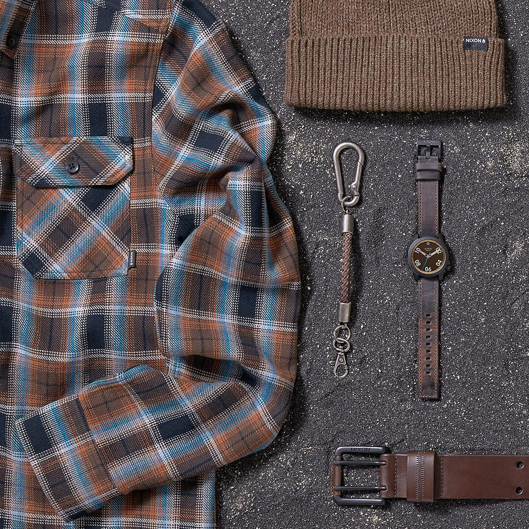 Genuine character. Rugged beauty. Created for adventure. A remote coastal wilderness in Northern #California inspires the goods that make up the earthy color palette, hard-wearing leathers and dark metal that is the #KingRange collection.  #Nixon...