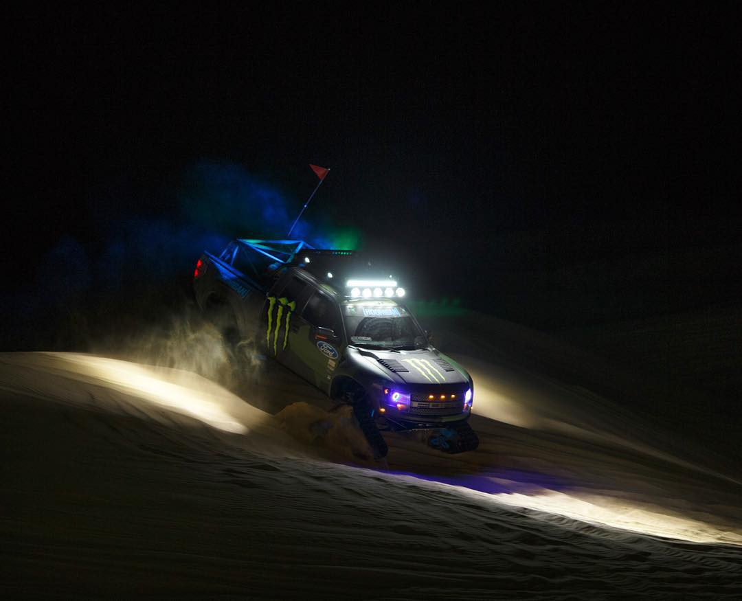 HHIC @kblock43 on that late night shred with the #RaptorTRAX during #Doonies2.