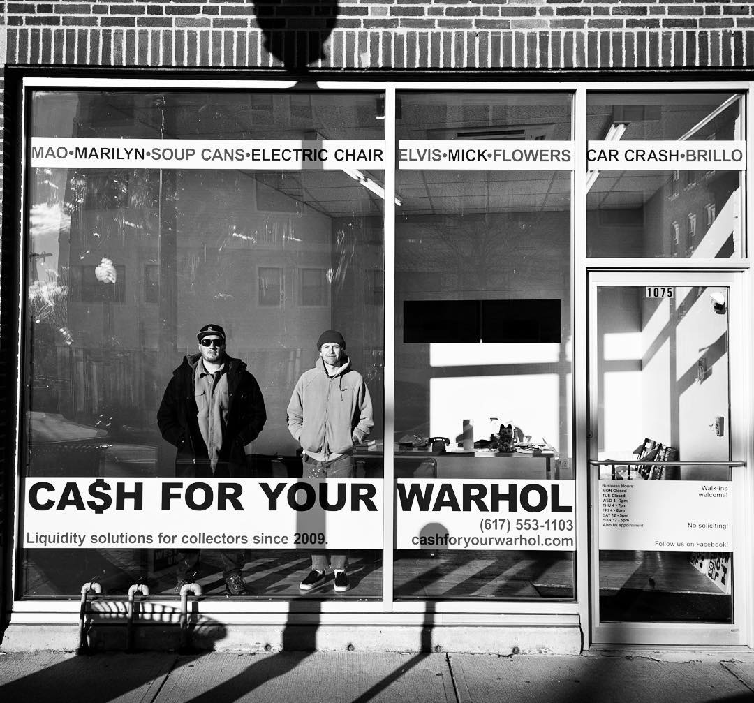 "We were honored to be a part of the design and installation of the new @cfyw ""Cash For Your Warhol"" pop-up space in Cambridge, Massachusetts. Check em out all this month. #cashforyourwarhol #cfyw #cambridge #cambridgema #warhol #steez @theworldsbae"