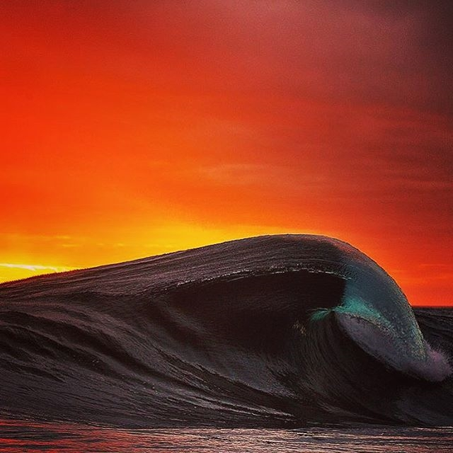 regram @thewave Incredible sunset wave by Andrew Semark #surf #thewave #sunset #instagood #ocean