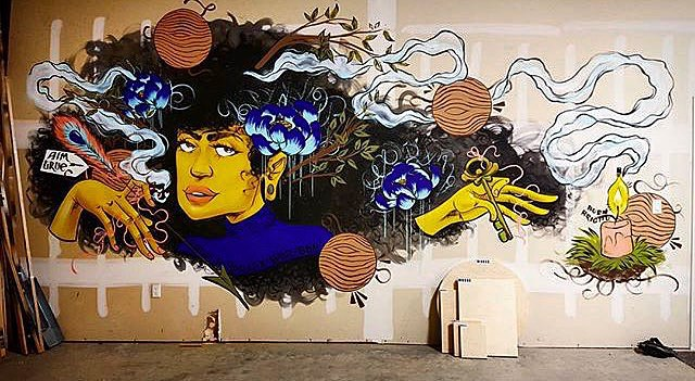 @roshi_k for @moosecanvas • • #atx #austintx #texas #tx #spratx #art #mural #roshik #deckthewalls