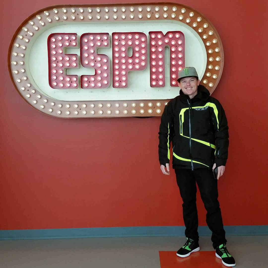 Three-time #XGames gold medalist @HeathFrisby has arrived at @ESPN HQ in Bristol, CT!