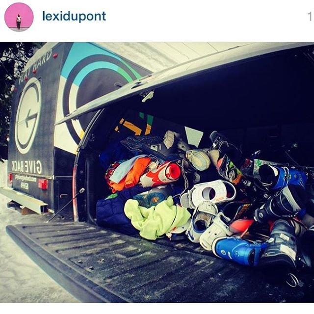 #PHGB athletes @lexidupont and @naylanator have been on a mission to gather used ski equipment for their @returntokg project!! The @sunvalley community has come together to help this awesome project, big ups to @sturtevants_sv @the_board_bin @pkskishop...