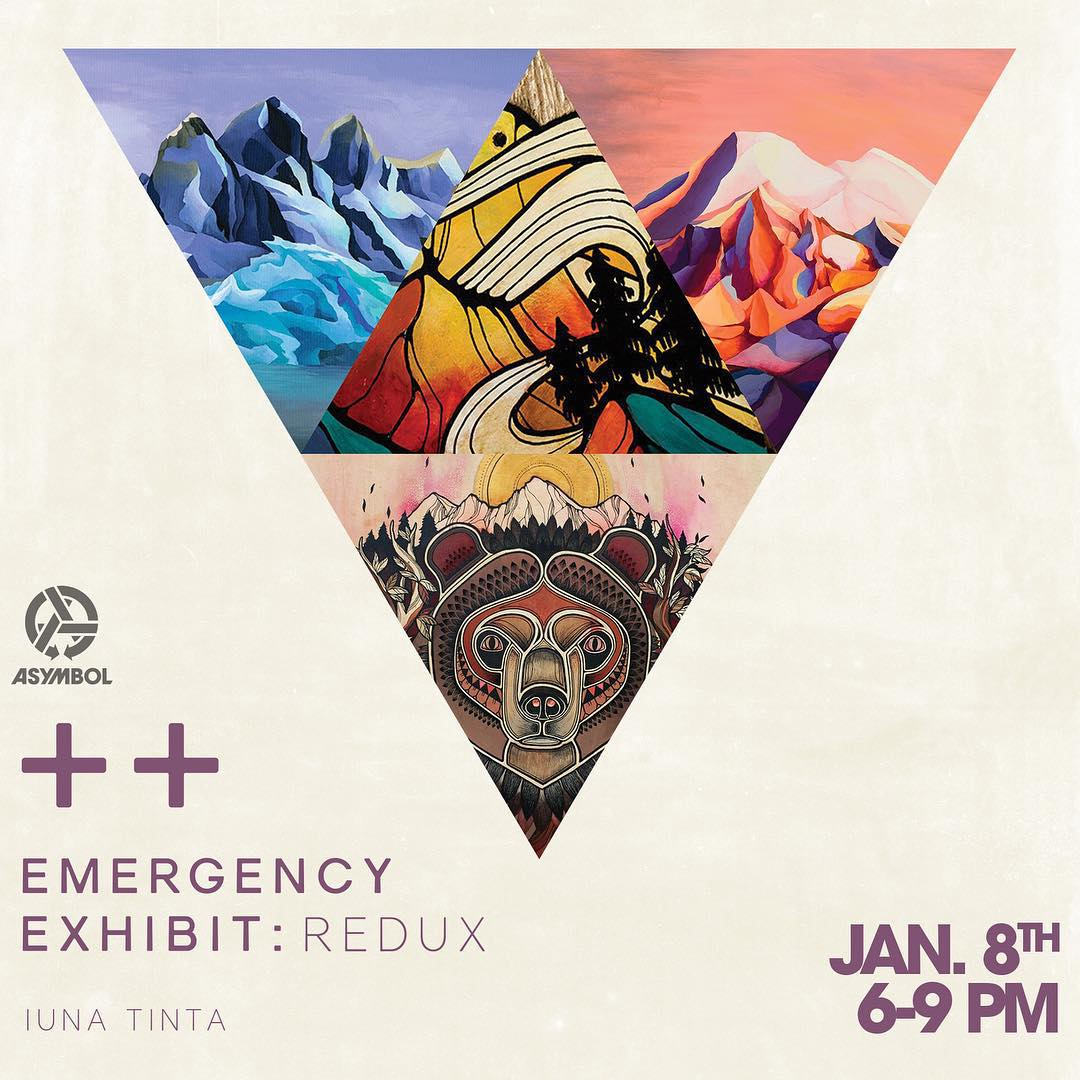 Don't worry Portland, we didn't forget ya!  The Emergency Exhibit opens this Friday night at @evoportland. Get down there and say hello to some radical people and the insane art of @iunatinta. If you were there last year then you know dang well that it...