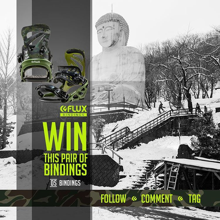 WIN FLUX! Flux Bindings is giving away a set of the DS Reflective Camo Bindings! To Enter: Go to @fluxbindings and FOLLOW our gram feed, make a COMMENT on our WIN FLUX post and TAG three of your friends in your comment. The winner will be selected by...