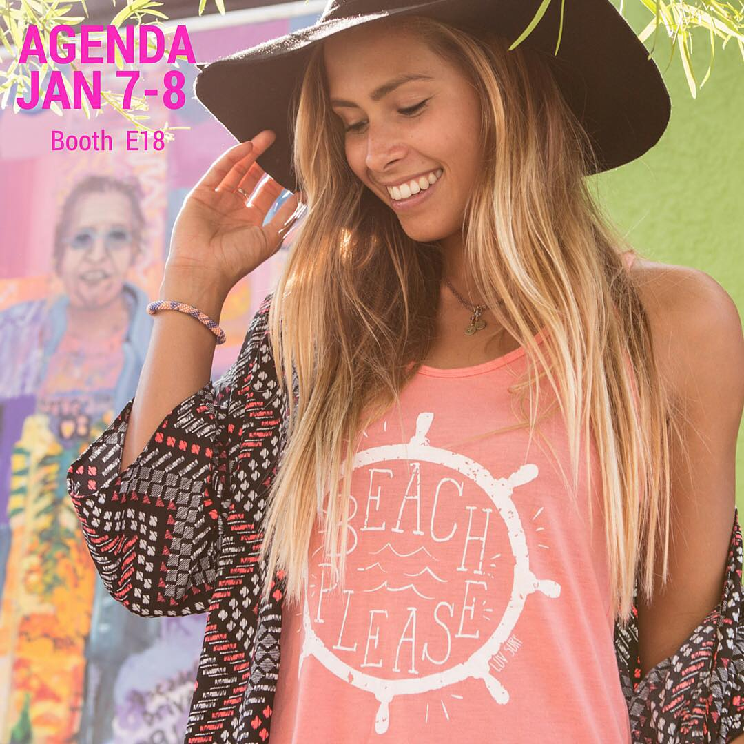 The Agenda Show in Long Beach, CA is only a few days away. Stop by our Luv Surf booth E18  #AgendaShow #wearthecalidream #LuvSurf #California