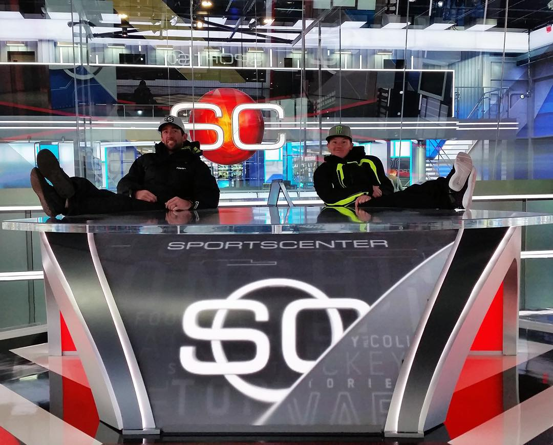 Three-time #XGames gold medalist @HeathFrisby is on @SportsCenter right now!  Check him out on @ESPN.