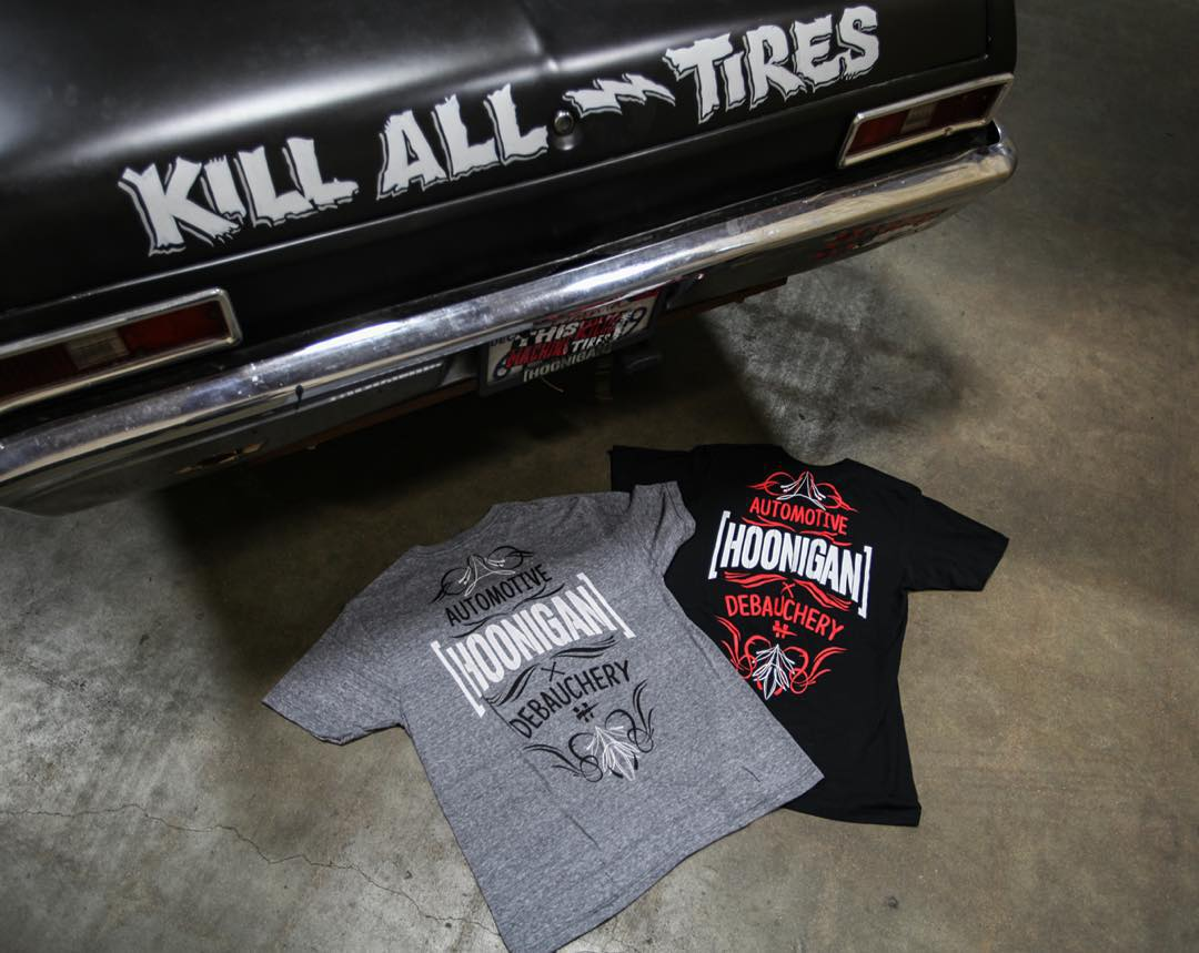 Hoonigan is Automotive Debauchery. Get yours by clicking the link in our bio. #supporthooniganism