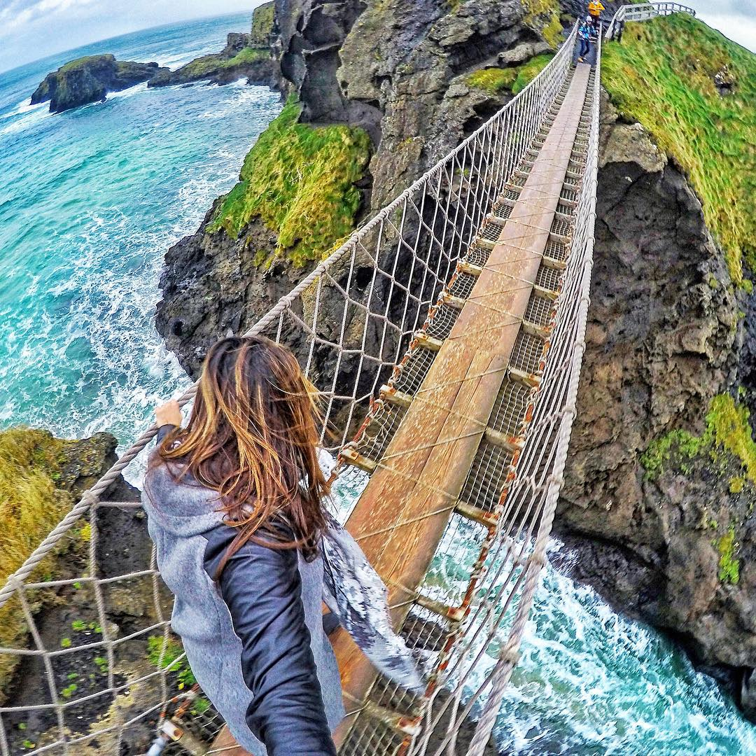 Thank you to everyone who participated in the GoPole New Year Photo Contest! We will be posting the top 5 photos (in no particular order) over the next couple of days.  @claireshanna crossing the Carrick-a-rede rope bridge on a windy afternoon in...