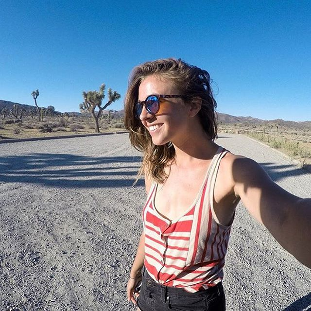 "Exploring Joshua tree with @erinoutdoors: ""Proud, the morning after hiking out of my first solo backpack."" Check out her latest post for insight into fear and adventure."