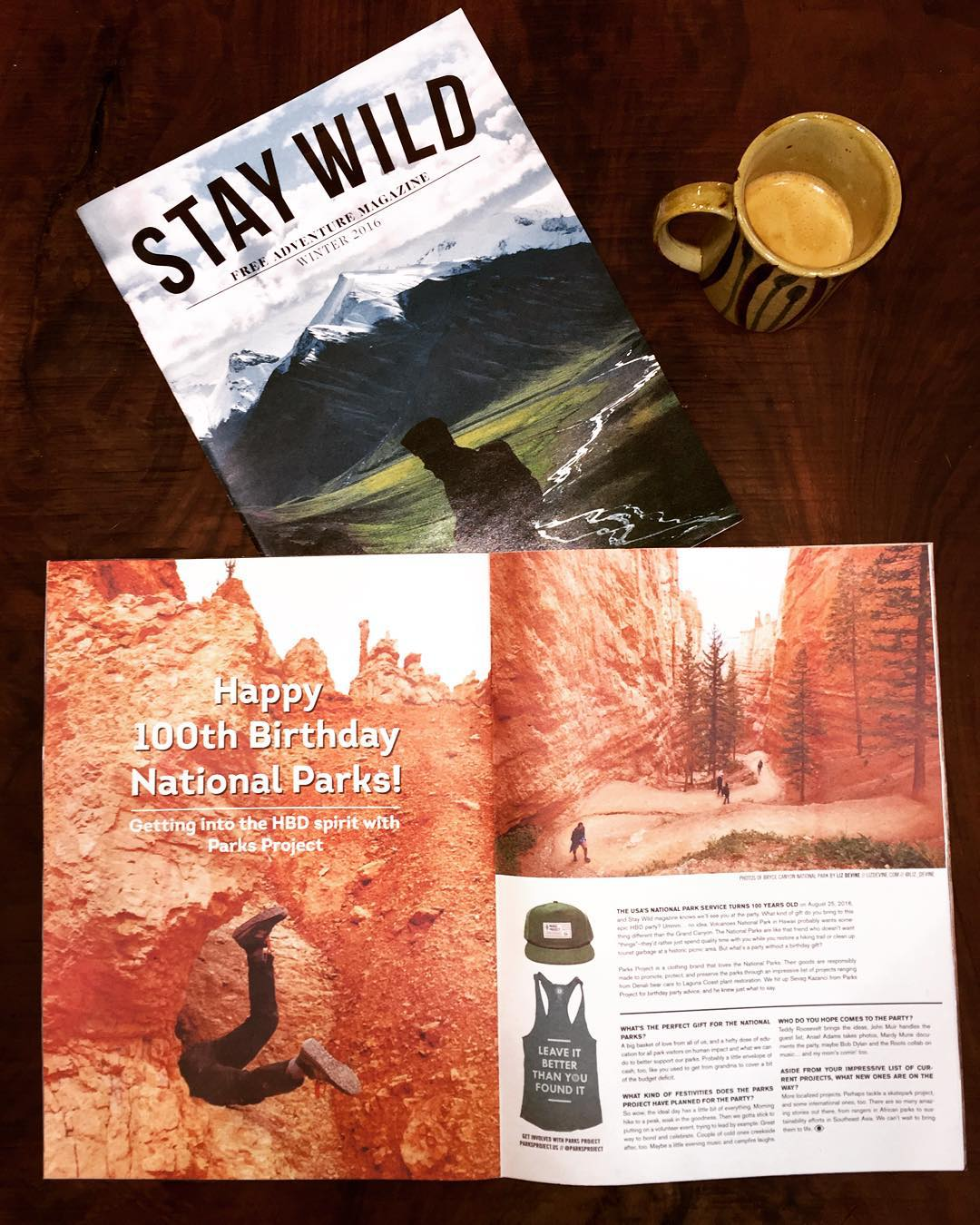 M O R N I N  R E A D Favorite mag @staywildmagazine slid a feature on #radparks in the winter edition. #nationalparkscentennial #leaveitbetterthanyoufoundit #goparks