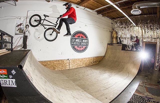 @_parkerheath just landed his first whip to fakie. Luckily  @kylecarlson was there to document! | #BMX
