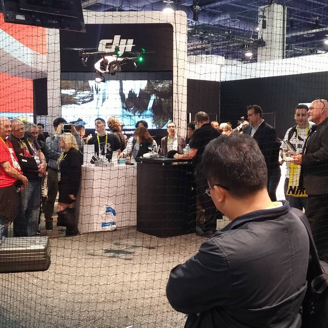 The #DJI #inspire1 showing off  #CES2016 #IamDJI #CES #WhatsNext