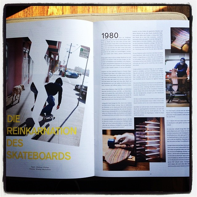 Iris skateboards featured in Uber magazine Germany. Amazing photos courtesy of @dianamulvihillphotos  #recycledskateboards #irisskateboards