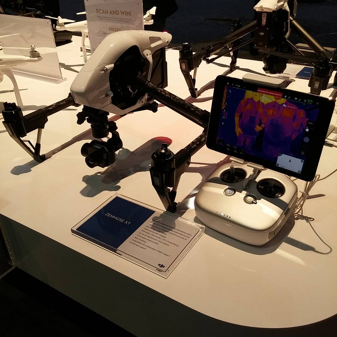 Take a thermal pic at the #DJI booth (South Hall 25602) with the #DJI #Zenmuse XT, powered by @flir.  #WhatsNext #CES2016 #IamDJI #CES