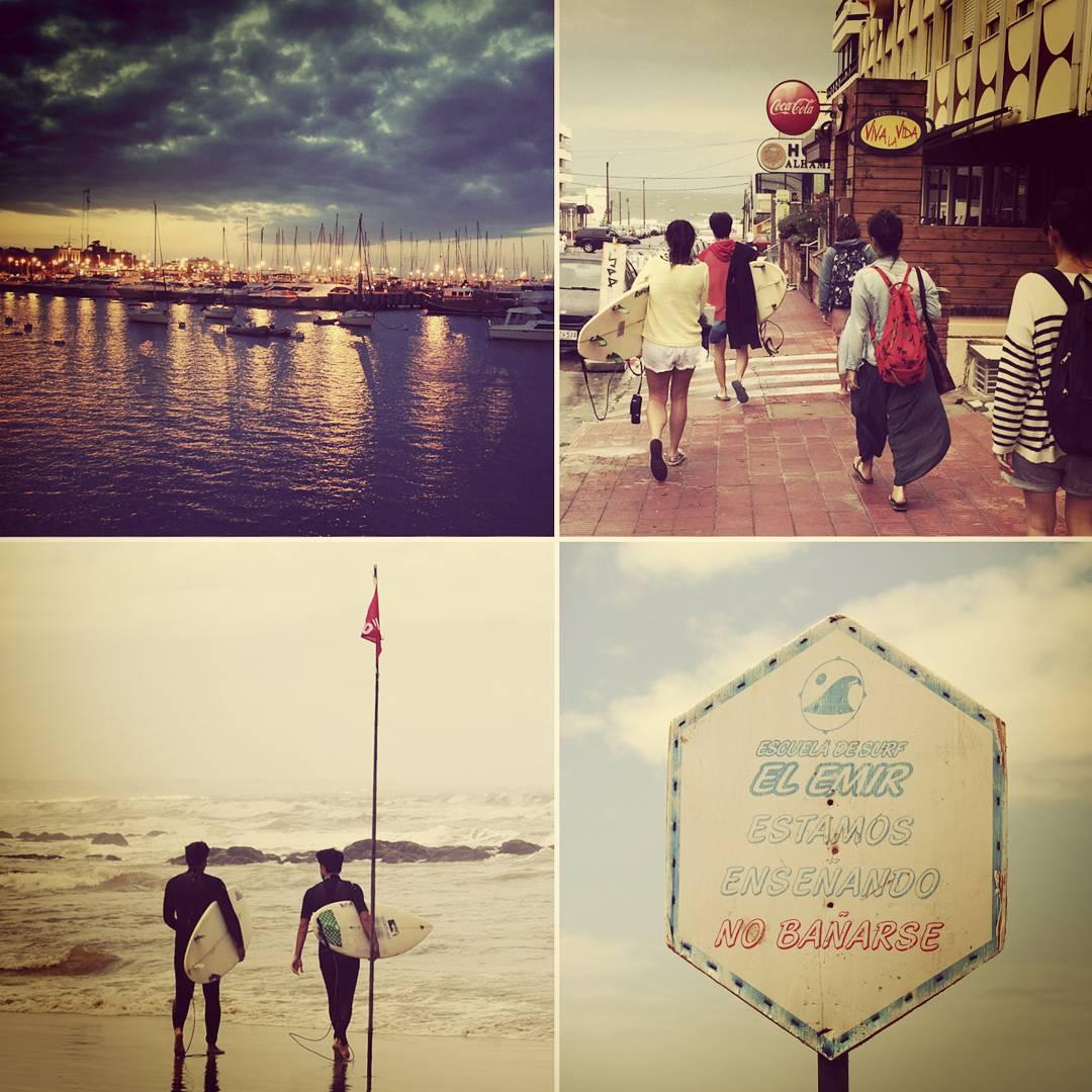 Postales de nuestro viaje x #uruguay  #maetuanis #surf #surfing #punta #puntadeleste