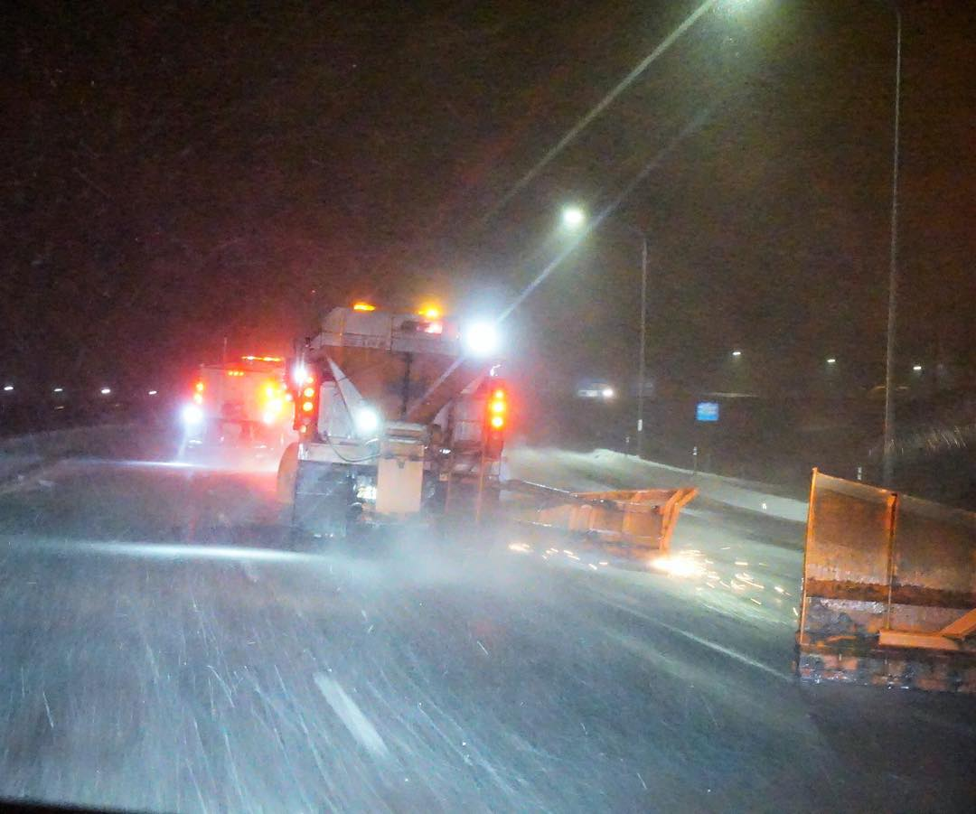 Wild scene from my drive home from the SLC airport last night: big Utah snow plows running 4 wide on the highway up to Park City, clearing the roads and laying down some major sparks! This sort of thing makes me very happy because it means I'm coming...