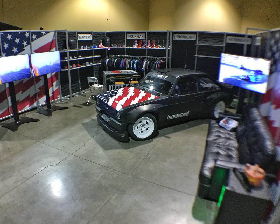 @TheHoonigans' booth at the 2016 Agenda trade show is looking strong - this year with 100% more Gymkhana Escort! If you're at the show, be sure to check it out along with Hoonigan's 2016 product line. Still really dope to see a motorsports brand at...