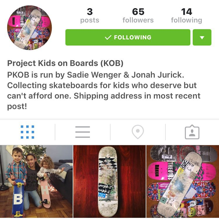 Give @projectkidsonboards a follow to help GRO rider @sadiewenger put together boards for kids that deserve them but can't afford them @projectkidsonboards @projectkidsonboards @projectkidsonboards