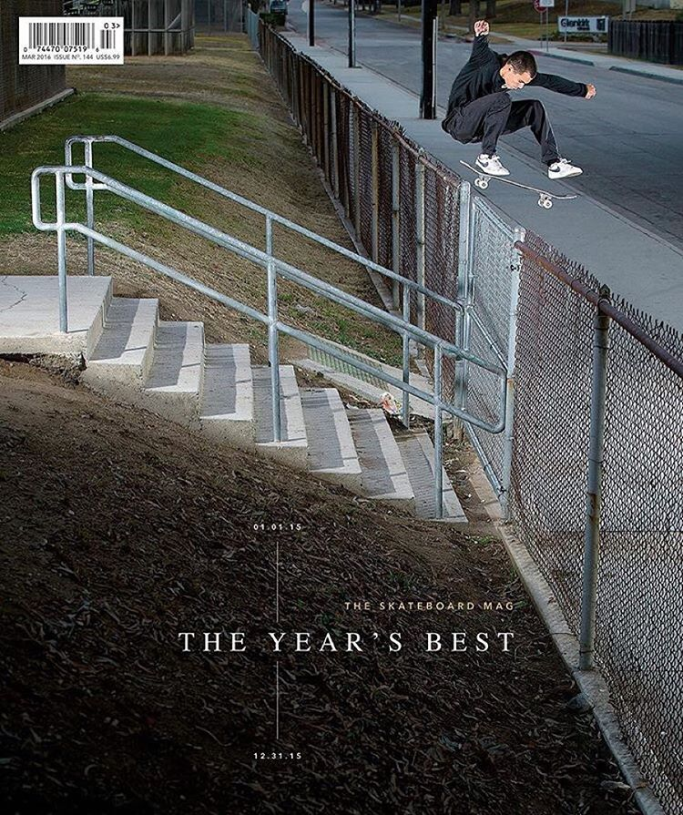 congrats to @masonsilva for receiving a well deserved Year's Best Am award and getting the cover of the newest @theskateboardmag >>> cheers to having an incredible 2015 Mason, can not wait to see what the future will bring