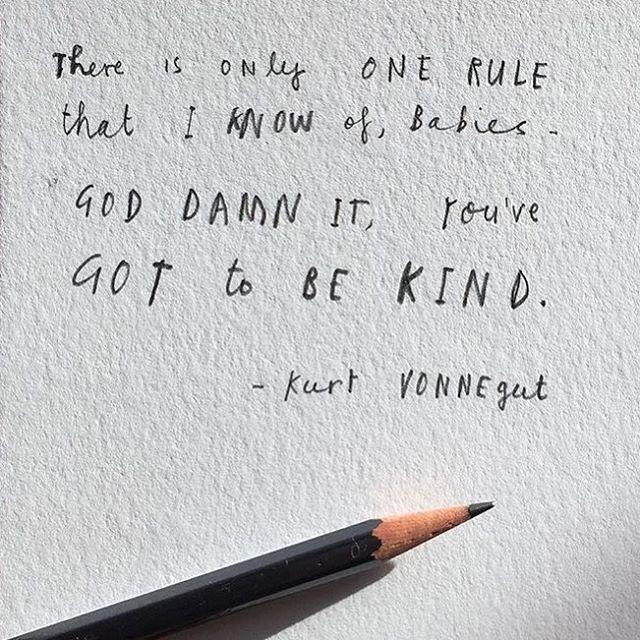 Vonnegut Rules // via @oliverjeffers #AllSwell