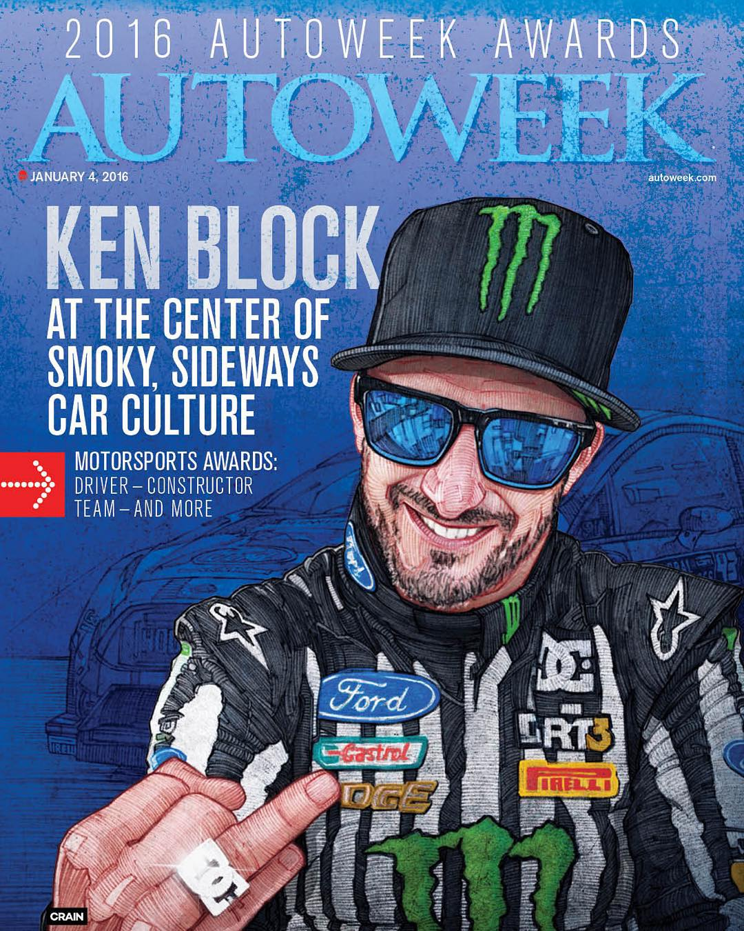 "It comes as no surprise that @autoweekusa would give @kblock43 the inaugural ""2016 Autoweek Car Culture Award."" Read about the award and why they chose Ken at: autoweek.com. #dcshoes #kenblock"