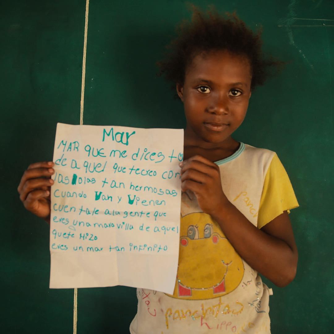 From Maria... With love, a letter to the sea /// @lobitos_cinema_project @billabongwomens @patagonia @natgeo @theinertia #wesea #coast2coast #fundacionsinumar #oceanconservation #magic #penpals #equipaso #surfforsocialchange #girlsrising #storytellers...