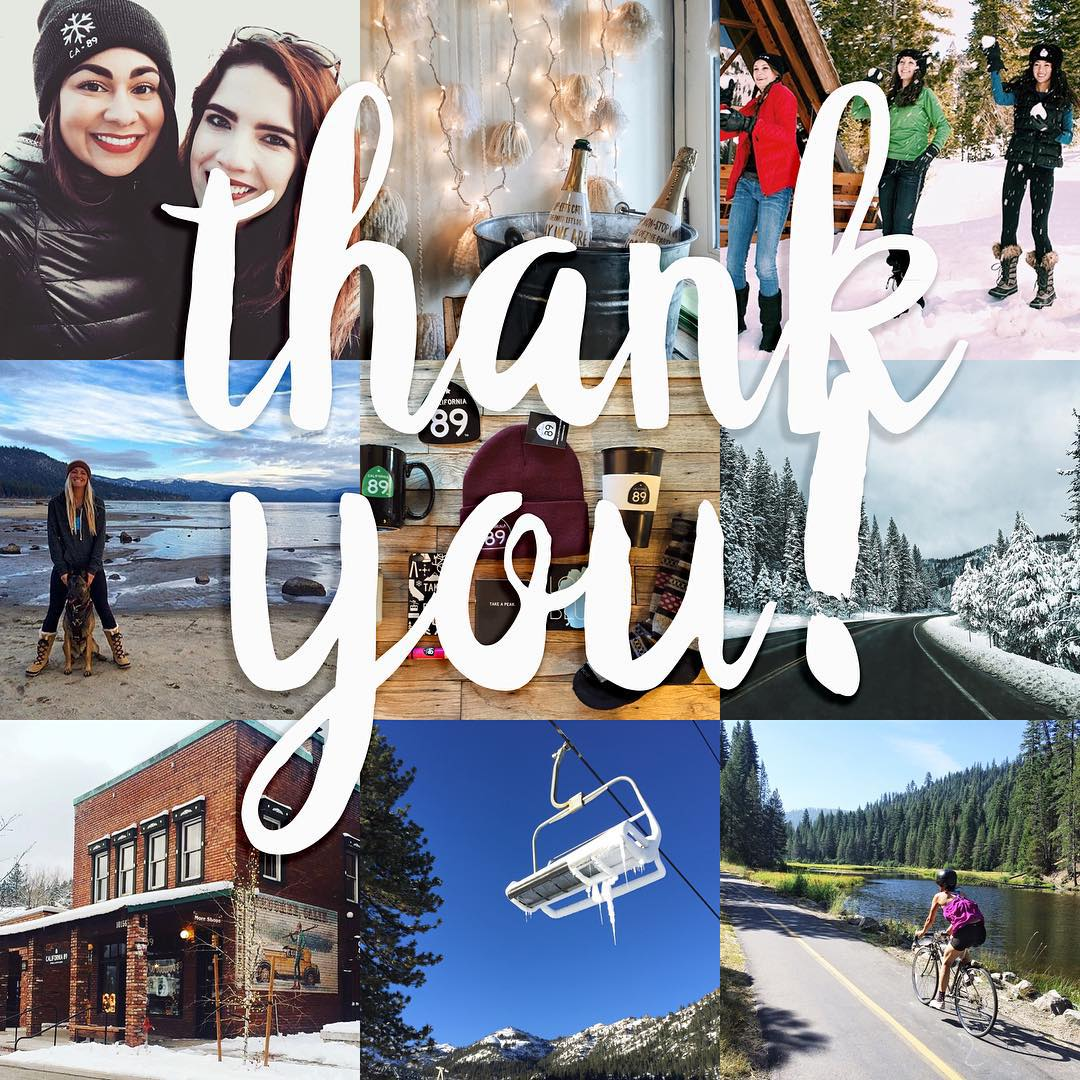1,000 followers - feelin' the love! Thanks for following along with our adventures! #CA89 #takeapeak