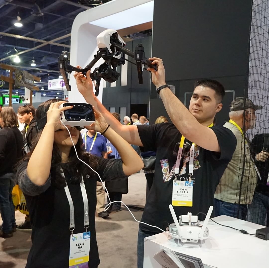Experience FPV with #ZEISS #VRONE and the #DJI #inspire1 PRO at #CES2016.  Visit South Hall 25602. Win a DJI #OSMO with the #DJIScavengerHunt  #WhatsNext #IamDJI