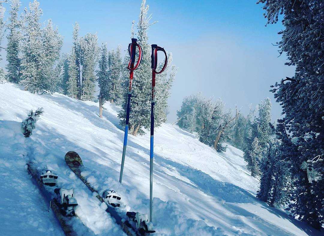 Finally getting into Killebrew Canyon.  Snow is still good! #killebrew #skiheavenly #wintersports #getoutside #graniterocx