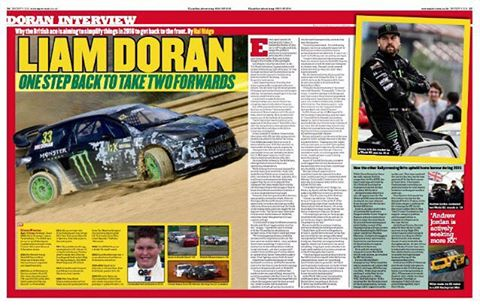 Nice spread in this weeks #motorsportnews paper back home in the UK. It was always a dream of mine as a kid everytime I saw my dad in this newspaper that I wanted to one day see my face in it too!  #badlad #villain #thatkidpicture