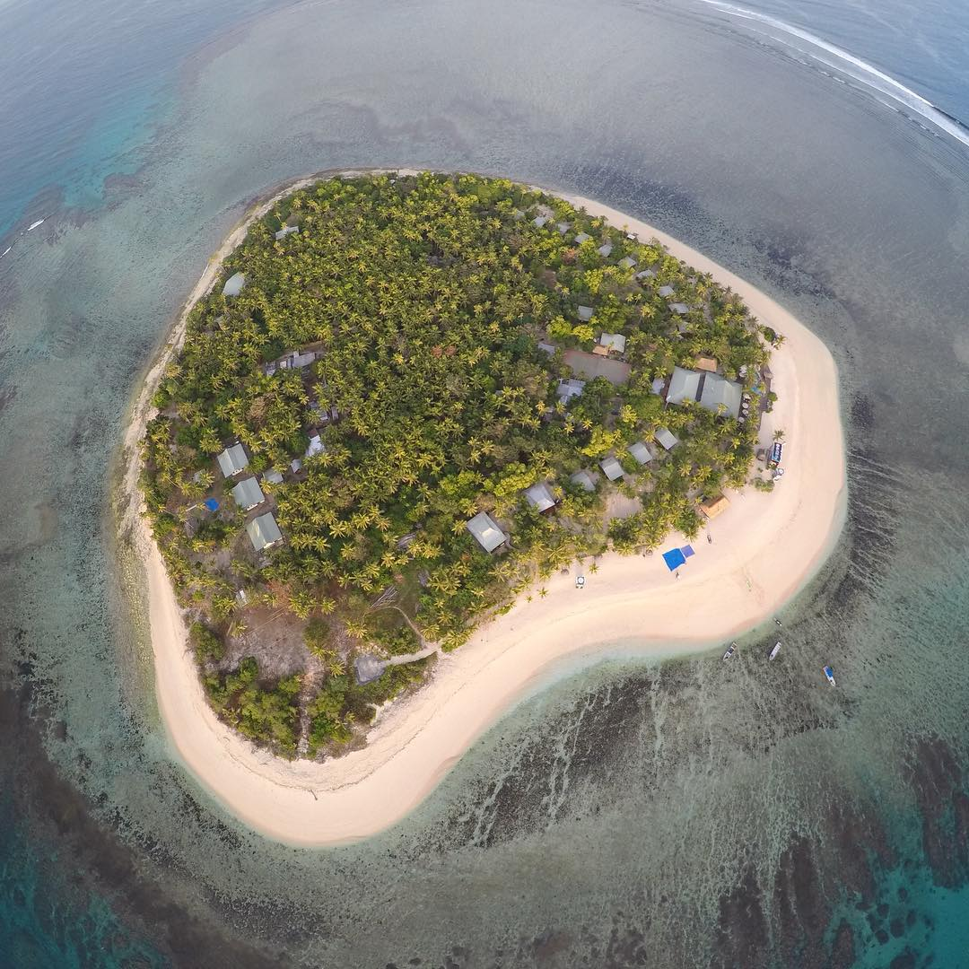 GoPro Featured Photographer and Athlete - @anthony_walsh_  About the Shot: Here's a drone shot of my happy place, the #heart shaped #island of @tavaruaislandresort in Fiji. Enjoy.  How the Shot was Captured: Shot using #GoPro #HERO4Black on a...