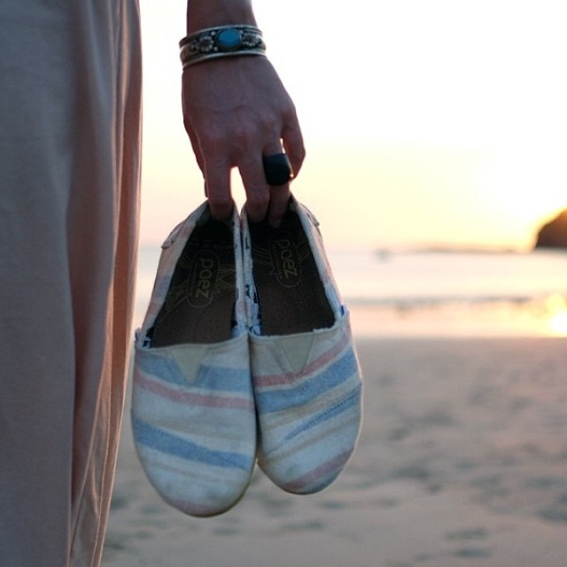 The cure for anything is salt water - sweat, tears, or the sea - .  #Paez #Beachwalk #sunset #beachtherapy #Paezshoes