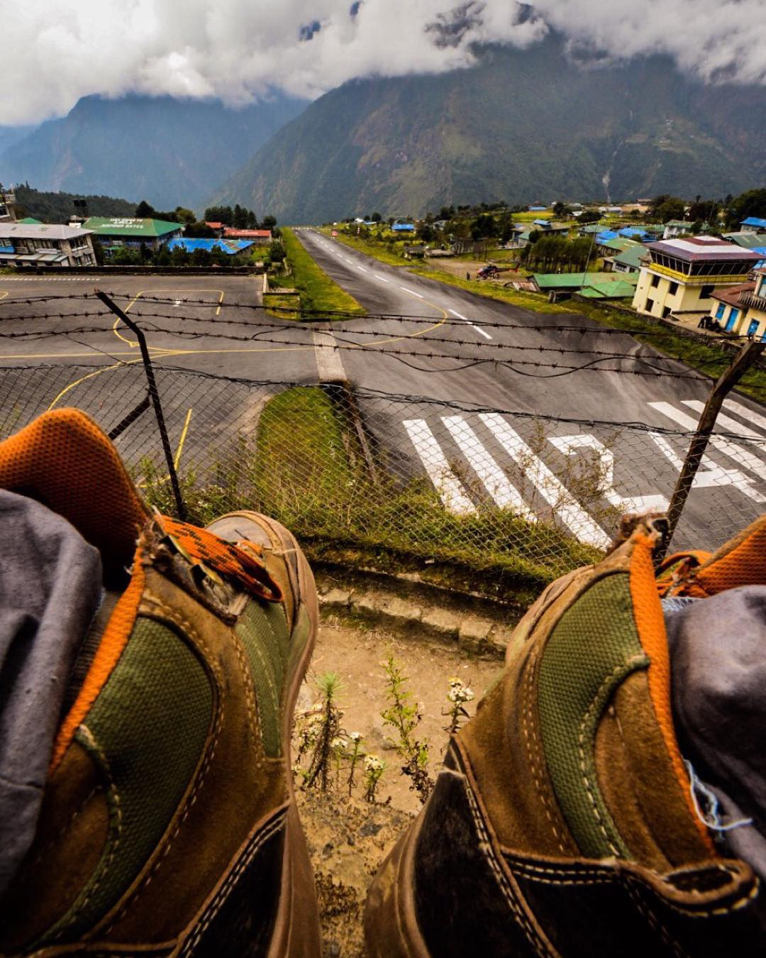 Perched high above the world in Lukla, Nepal. @jeff.wols ⛰ #getoutthere #adventureworthy