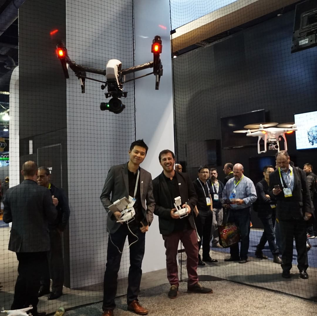 Brothers that fly together, stick together.  #CES2016 #WhatsNext #IamDJI #DJI