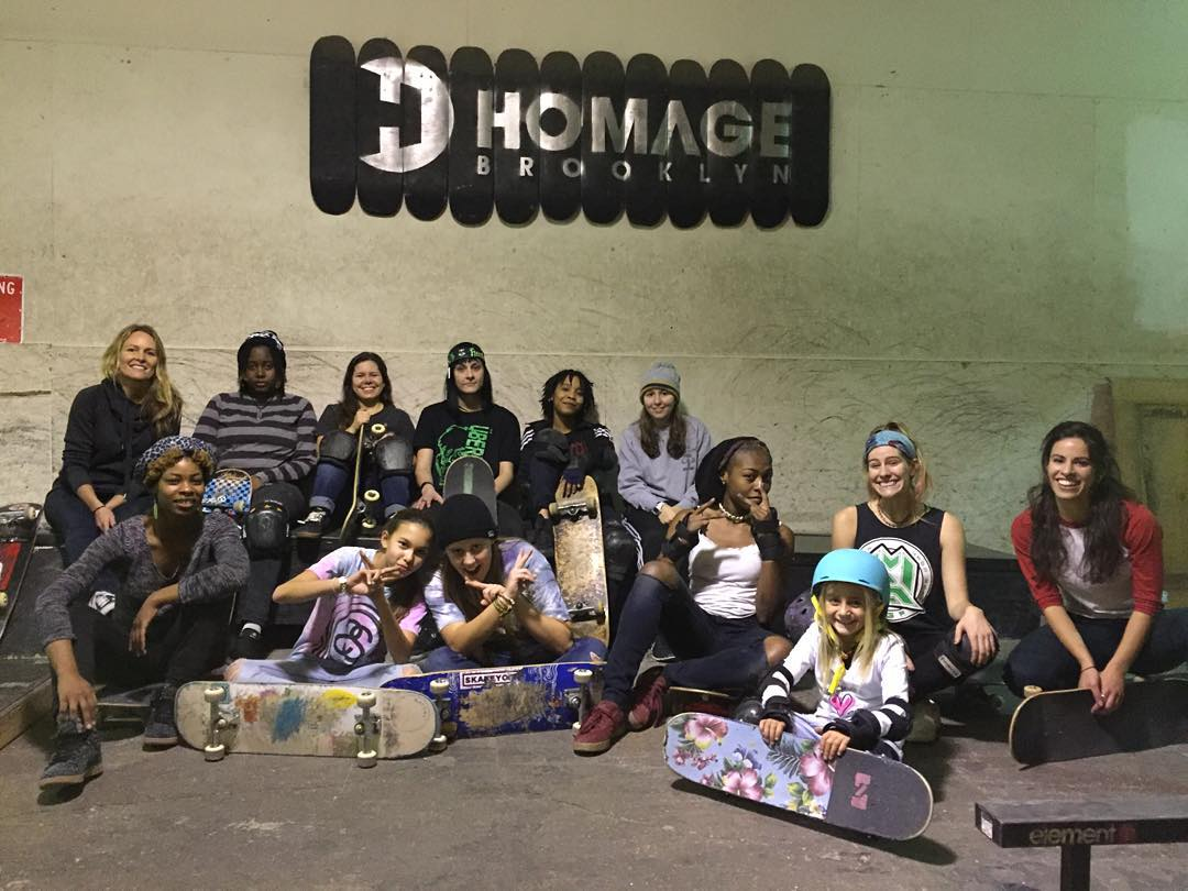 Tomorrow from 3:30-5:30 is our beginner focused skate session @homage_brooklyn ‼️‼️Please come help us determine a new time for these sessions #ridetrue #ladiesofshred #nyskateboarding #gromlife #gromgirl