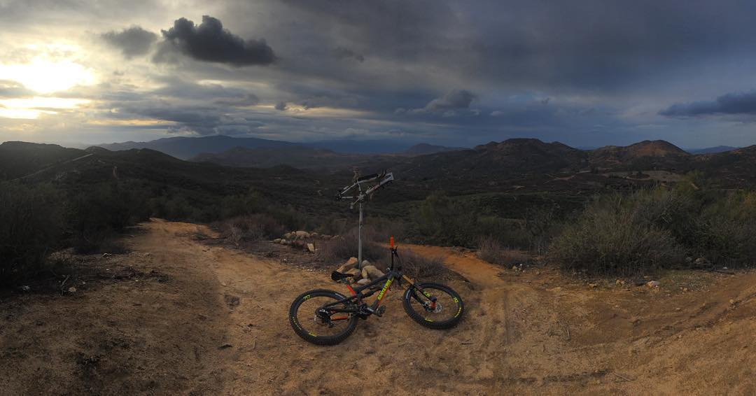 Great ride after the Rain, the trails were so good up there today. Now headed to @supercrosslive for #A1