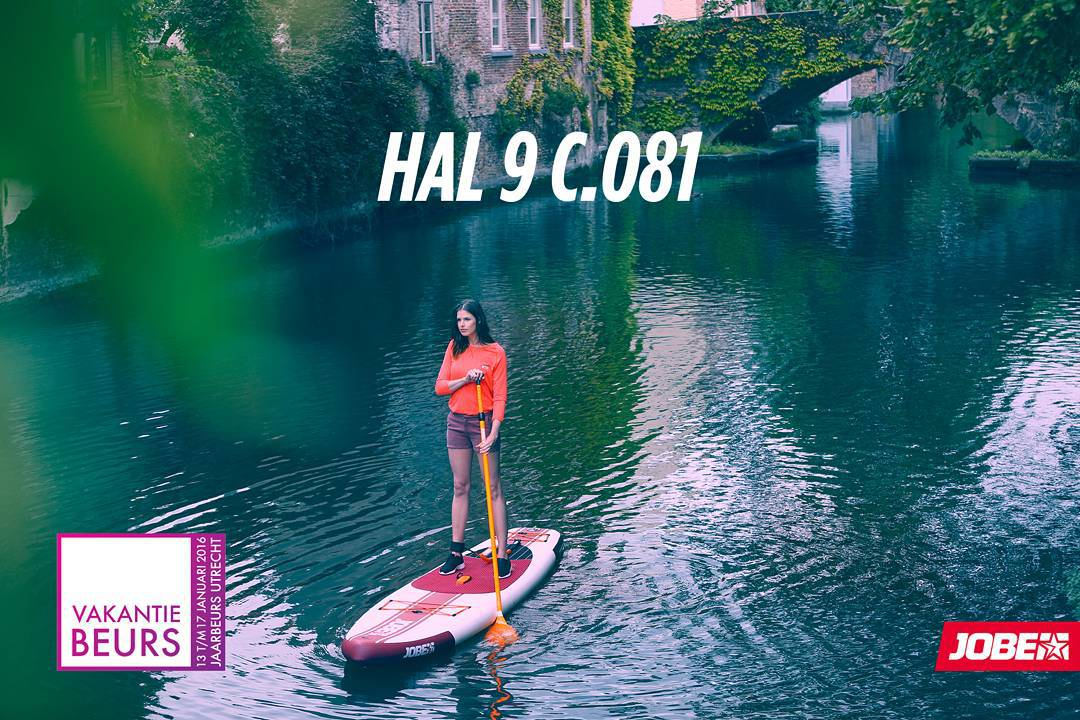 Jobe will be at the Vakantiebeurs in Utrecht, drop by Hal 9 C0.81 and try out SUP or a chance to win your very own customized SUP!