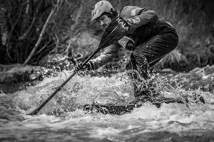 Peter Hall charging some whitewater on the #HalaAtcha.