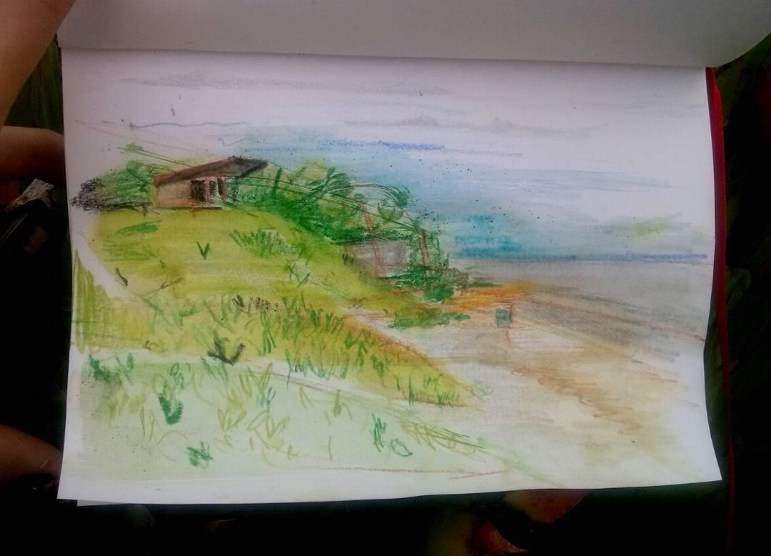 Roldán, del 8.1.16. Hasta pronto. #NuevaAtlantis #playa #beach #acuarela #acquerello #aquarelle #art #arte
