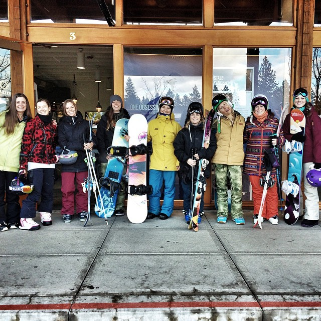 @oakley ladies ride day at @skiheavenly was a blast today! Thanks Amy at the Oakley store for hosting! All the girls rip and we couldn't stop smiling. We had a wide range of conditions but our best run had to be down Fire Break through untouched pow...