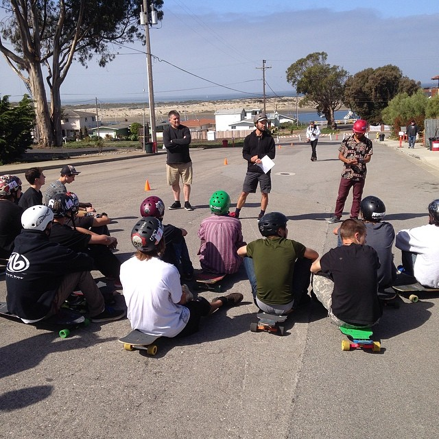 Riders meeting at the #MorroBayFunfest! @loadedboards @orangatangwheels @mbskateboardmuseum