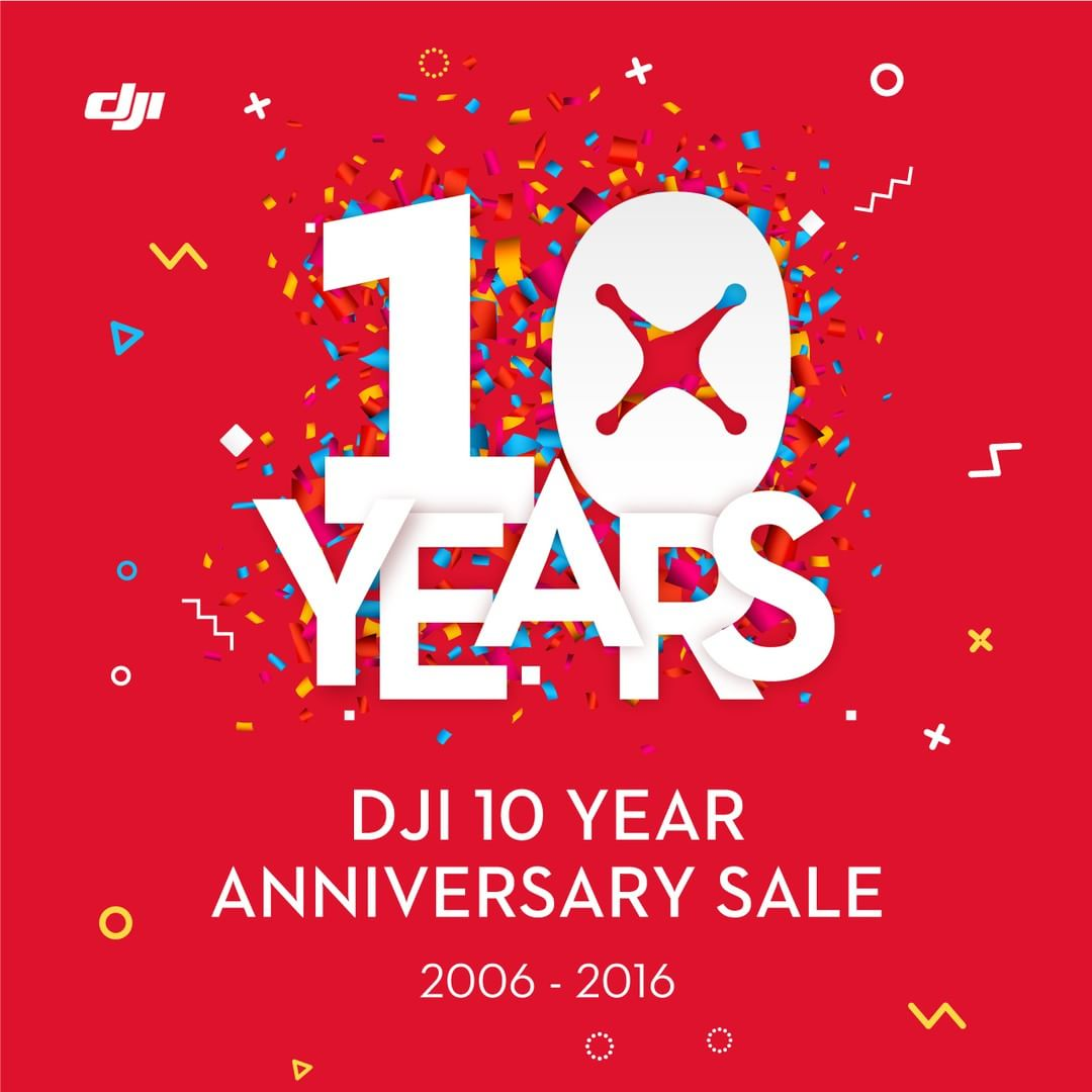 Celebrate 10 years of DJI with our limited edition 10th Anniversary sales! Available now at the official DJI Store: http://store.dji.com #WhatsNext